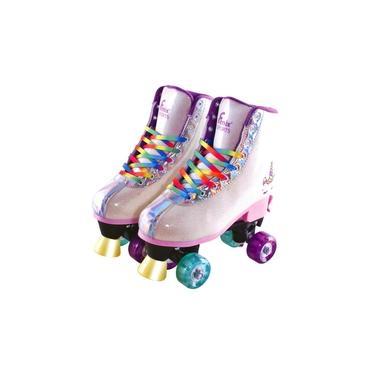Imagem de Patins Roller Infantil Adulto Feminino Quad 4 Roda Unicórnio - Fenix