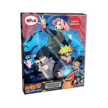 Imagem de Quebra-Cabeça Puzzle Play 100 Peças Lente Mágica - Naruto Shippuden - Elka
