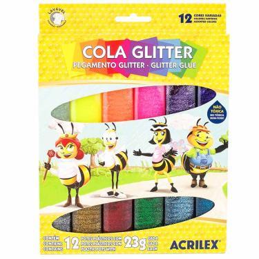Imagem de Cola Glitter 12 Cores Acrilex 1030106