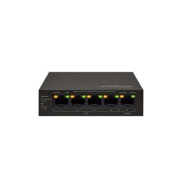 Switch 5 portas Fast Ethernet com 4 portas PoE SF 500 PoE Intelbras