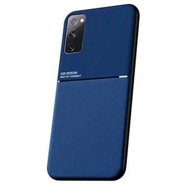 """Imagem de Capa Grandcase para Galaxy S20 FE, capa ultrafina de silicone macio TPU Fashion Line padrão durável leve absorção de choque capa de proteção para Samsung Galaxy S20 FE 6,5"""" – Azul"""