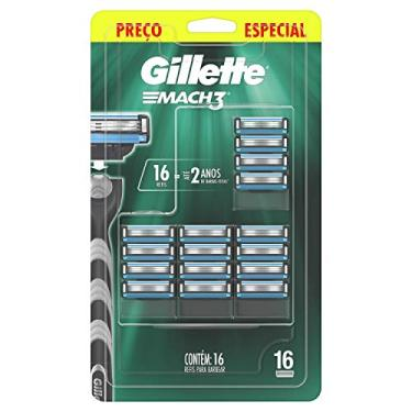 Refil Para Barbear Gillette Mach3 16 Unidades, Gillette