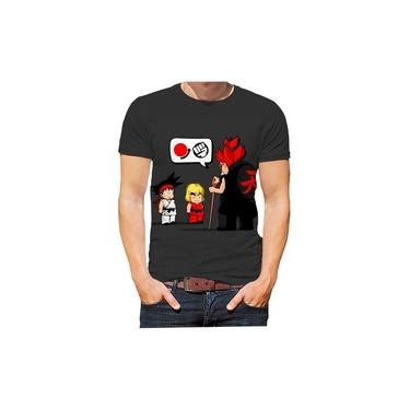 Camiseta Camisa Street Fighter Cobra Kai Jogos Séries Filmes