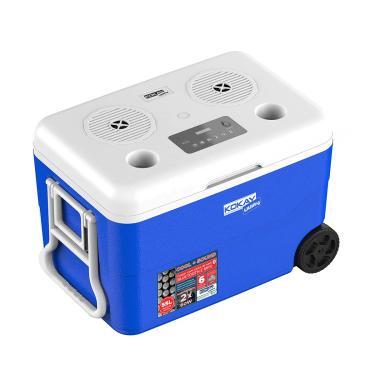 Imagem de Caixa Termica Cooler Com Som Bluetooth Embutido 55 Litros Com Rodas Azul Kokay