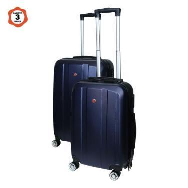 Imagem de Conjunto De Malas De Viagem Em Abs 2 Peças Azul - Lucyhome