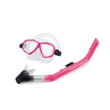 Kit máscara e snorkel ocean mormaii Rosa TU