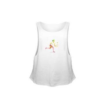 Camiseta Regata Sport Fit Tenis Geometrico