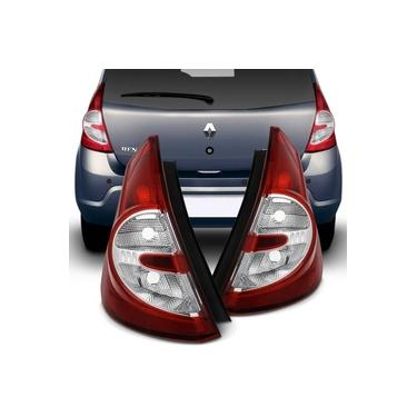Lanterna Traseira Bicolor Renault Sandero 2008 a 2011 Lado Esquerdo