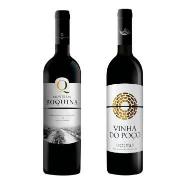 KIT VINHO TINTO PORTUGUÊS MONTE DA ROQUINA + VINHA DO POÇO D.O.C. - 750ML