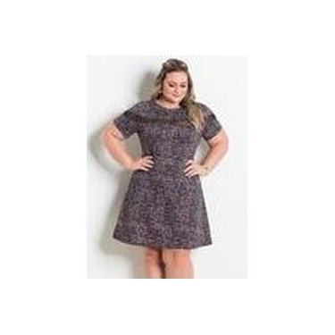 Vestido Abstrato Com Tule Marguerite Plus Size