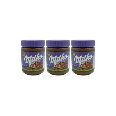 Kit 3 Creme de Avelã Milka Hazelnuts 350 Gramas