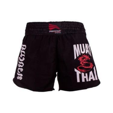Short muay thai feminino - preto - p - Progne