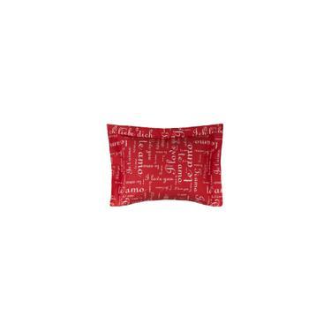 Imagem de Porta Travesseiro Te Amo 2 Peças 150 Fios Algodão Vermelho
