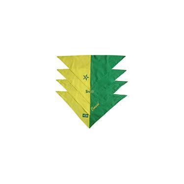 Bandana Do Brasil Cursiva - Verde e Amarelo - Bichinho Chic