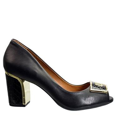 Sapato Peep Toe Luz da Lua Milano Vibora S54135