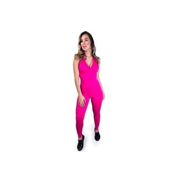 Macacão MVB Modas Bojo Suplex Liso Fitness