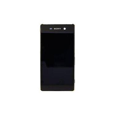 Frontal Touch LCD Sony M5 E5603 E5606 E5653 Com Aro PRETO