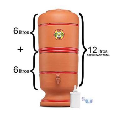 Filtro De Barro São Pedro 6 Litros com 1 Boia e 1 Vela Tripla Ação
