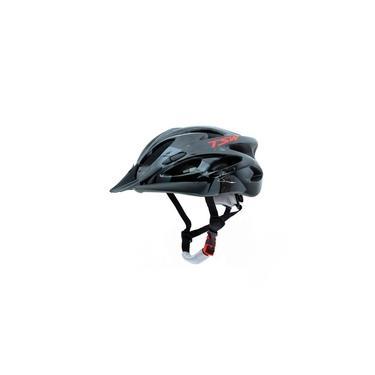 Imagem de Capacete Para Bicicleta Ciclista Adulto Led Traseiro e Viseria Tamanho G 57/61 cm Tsw