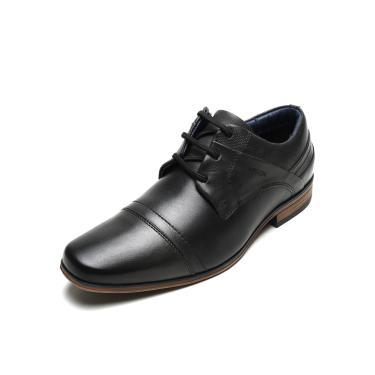 Sapato Social Couro Ferracini Recortes Preto Ferracini 6065-575G masculino