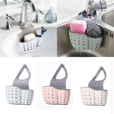 Imagem de Porta Esponja Detergente Sabão Cozinha Lavanderia Silicone