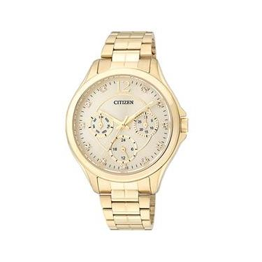 3de6d3f4982 Relógio Feminino Analógico Citizen TZ28360G - Dourado