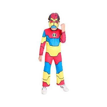 Fantasia Ben 10 Bloxx Infantil C Máscara