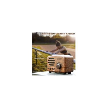 Alto-falante Bluetooth Retro Presente Fofo Mini Rádio Subwoofer Sem Fio Rádio Rádio Portátil Externo SoundBox Cartão tf Player de Música