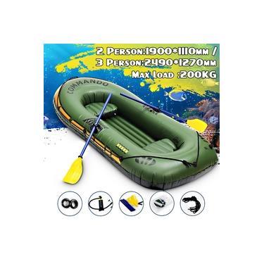 2 adultos com 1Kid Canoa Caiaque Inflável 150 kg 250 kg Remo Barco A Ar Válvula Dupla Deriva Mergulho Barco Inflável Barco De Pesca