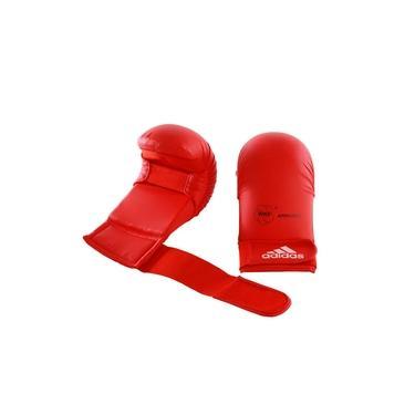 Luva Karatê Adidas sem Dedão Vermelho WKF Approved Old Collection