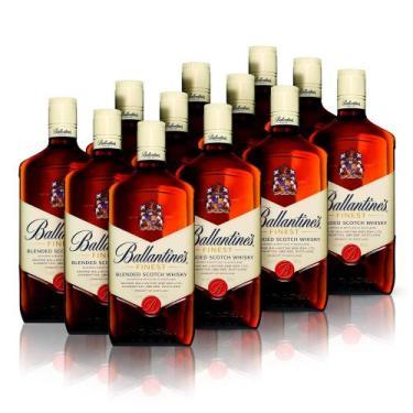 Kit Whisky Ballantines Finest 1L - 12 Unidades