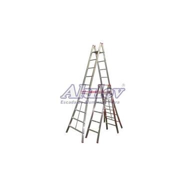 Escada Pintor Alulev Pn 110 Dupla Alumínio 3,30 Metros 10 Degraus