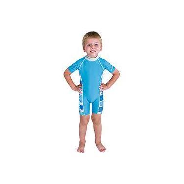 Macacão p/ Natação Bestway Careful Swim Suits Azul