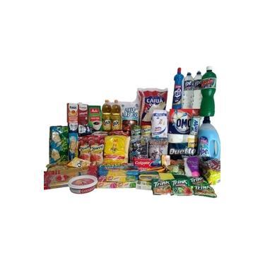 Cesta Básica Completa C/ Produtos Limpeza E Higiene 59 Itens