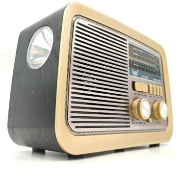 Imagem de Rádio Retrô Portátil Mp3 Usb Cartão Sd Am Fm C/bluetooth (Preto)