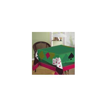 Imagem de Toalha de Mesa Baralho Aveludada Teka Cassino Poker 140 cm x 140 cm