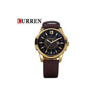 d2662cddbe6 Relógio Masculino Curren 8123 Esportivo Quartz Dourado