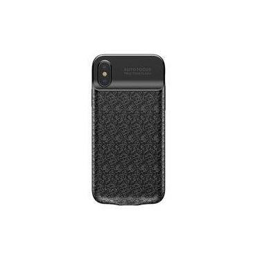 Capa Carregadora Bateria Externa Baseus Iphone X 10 3500mah Preta