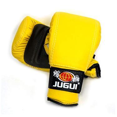 Luva Bate Saco Jugui Boxe/Muay Thay Div. Cores (Amarelo)