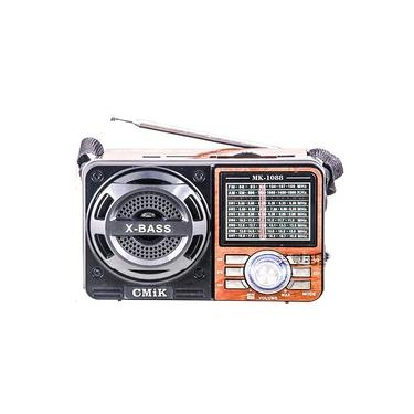 Radio Portatil Am/fm 1088 Usb/sd Recarregavel