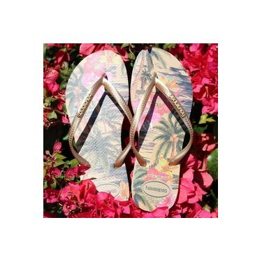 Chinelos Slim Tropical Havaianas Marfim Chinelos Slim Tropical