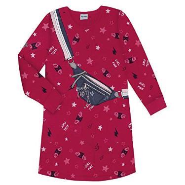 Vestido Infantil Girl Power Rovitex Kids Vermelho 16