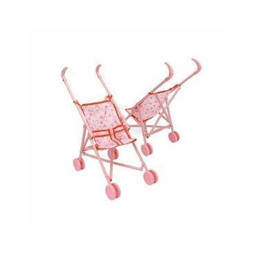 Imagem de Carrinho De Boneca Infantil Homeplay Soft Dobrável Rosa