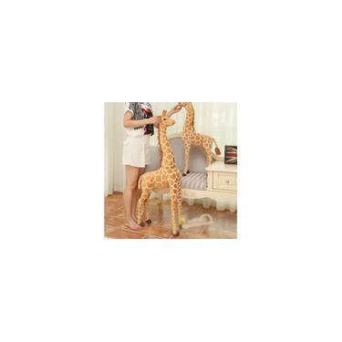Imagem de 100 cm Grande Simulação Girafa Brinquedos Recheados Bonitos Bonecas de Animais de Pelúcia Macio Boneca Presente de Aniversário para Crianças