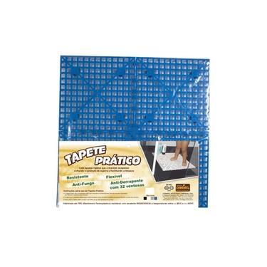 Imagem de Tapete Estrado Anti-Derrapante Com Ventosas 50cmx50cm Azul
