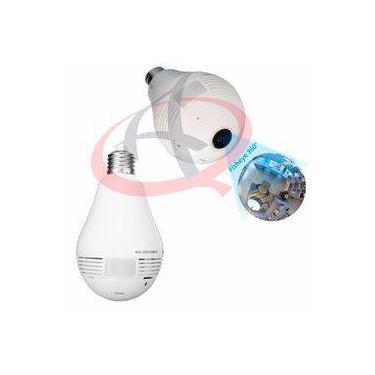 Camera Ip Seguraca Lampada Vr 360 Panoramica Espia Wifi V380s