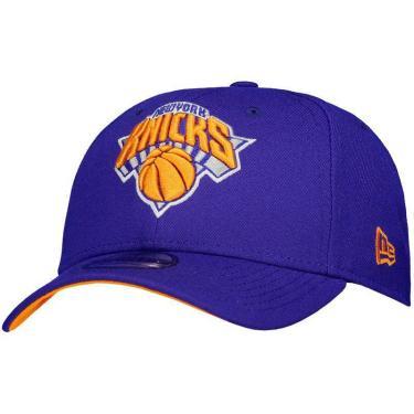 Boné New Era NBA New York Knicks 940 Azul e Laranja