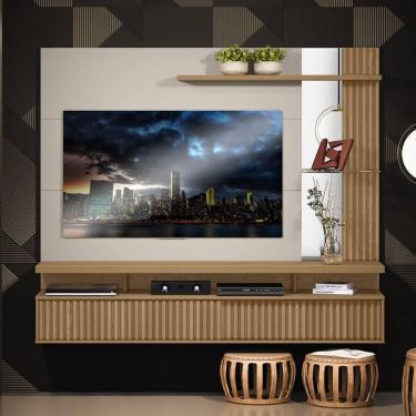 Painel Home Para Tv 60' Maragogi Linea Brasil Carvalho Off White
