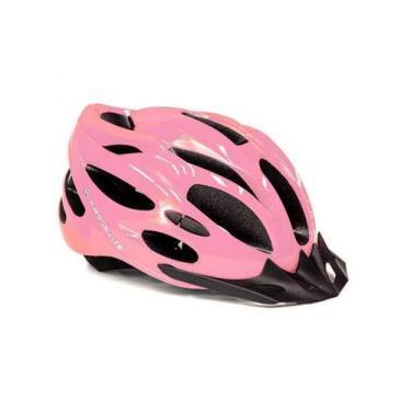 Imagem de Capacete Ciclismo Feminino Nero Tamanho M 54/57Cm Led Traseiro E Visei
