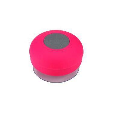 Mini Caixa de Som Portátil Bluetooth Rosa Bts-06